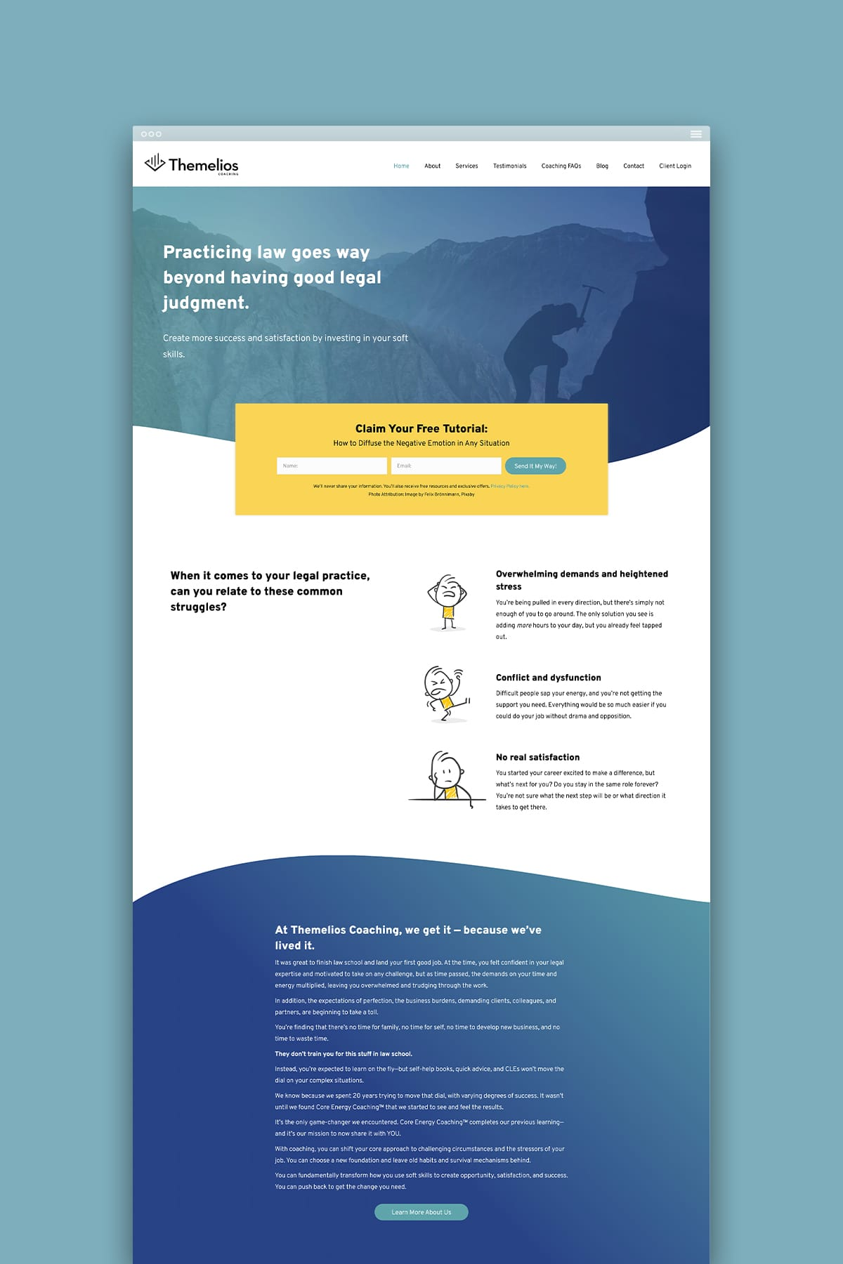 Themelios Coaching's Home Page Design