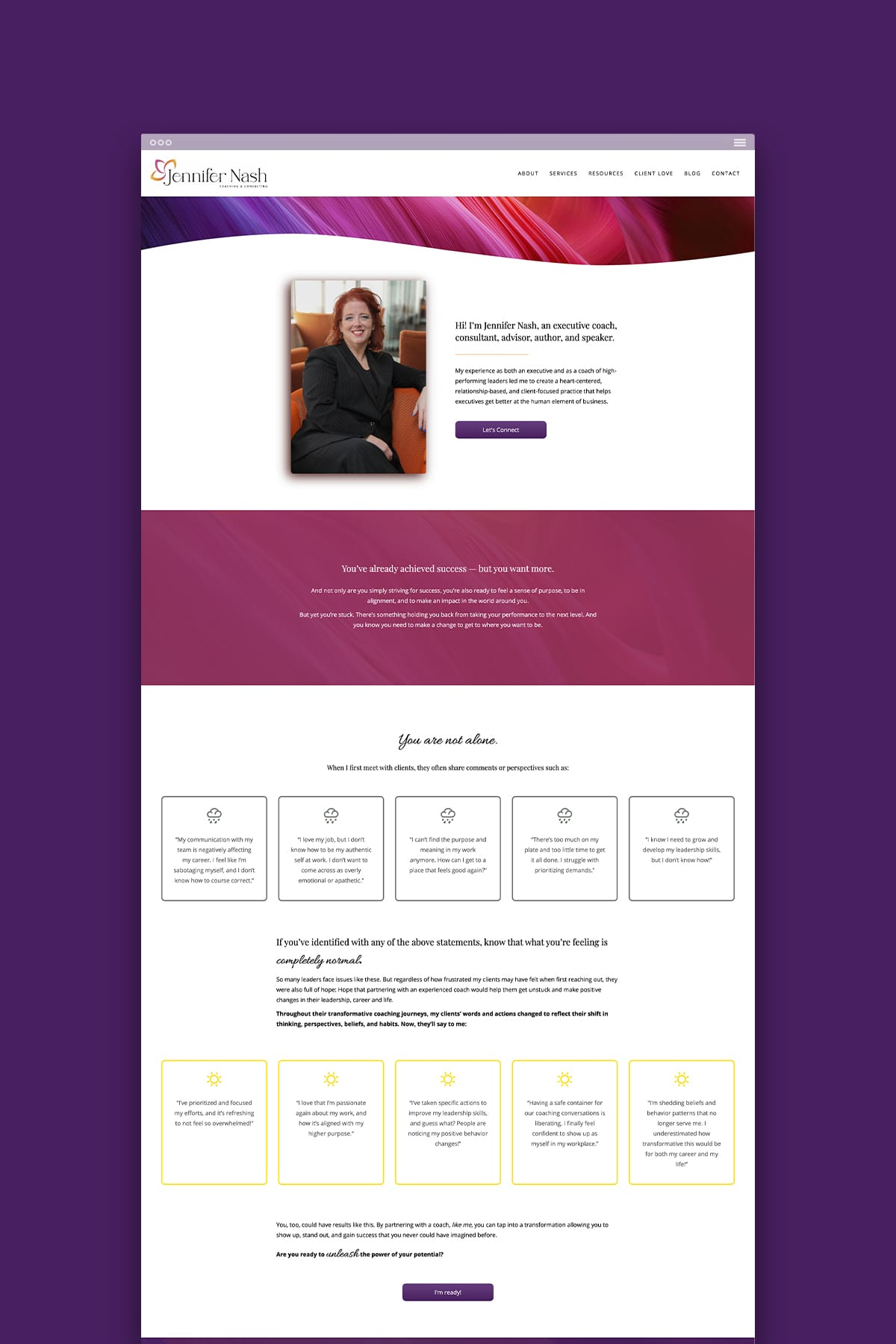 Home Page/Landing Page Design