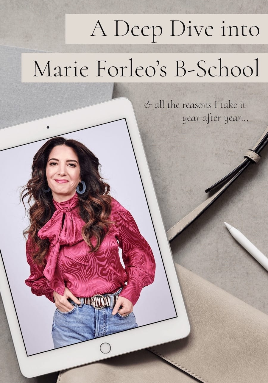 Deep Dive into Marie Forleo's B-School-Katie O'Brien Affiliate Partner