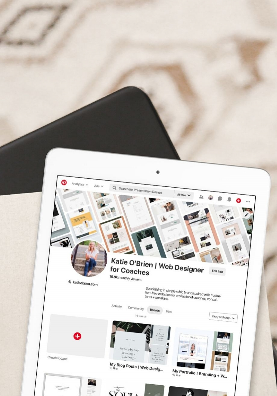 How to Use a Pinterest Board to Gather Visual Inspiration for your Business_iPad Mockup